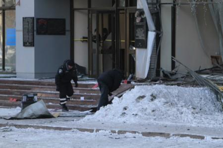 Повреждения в результате взрывов в Макеевке