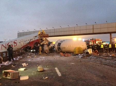 Ту-204 на місці падіння