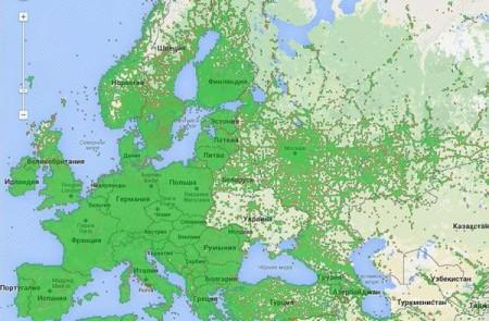 Карта покриття 3G/4G